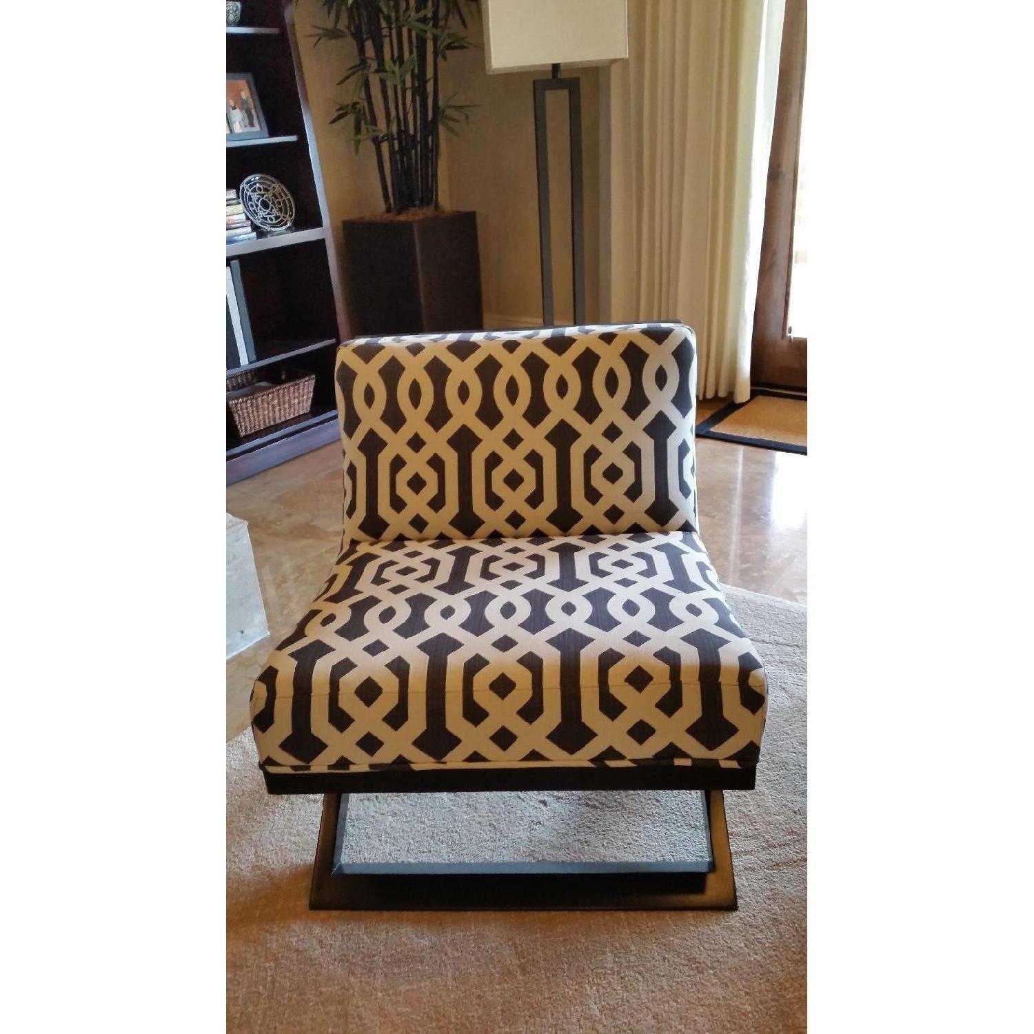 American Leather Black & White Modern Accent Chairs - image-2