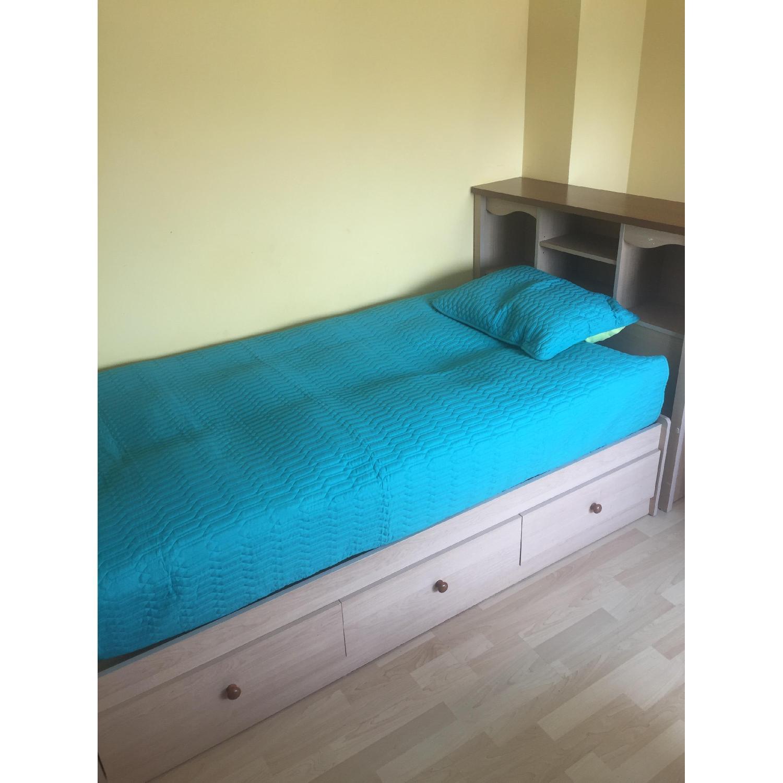 Twin Captain Bed w/ Headboard - image-1