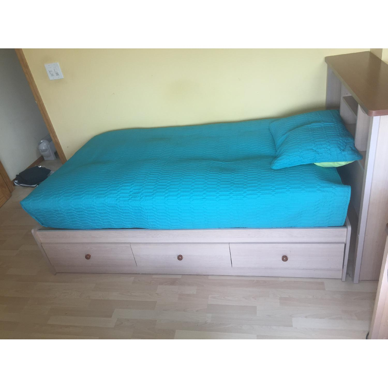 Twin Captain Bed w/ Headboard - image-2