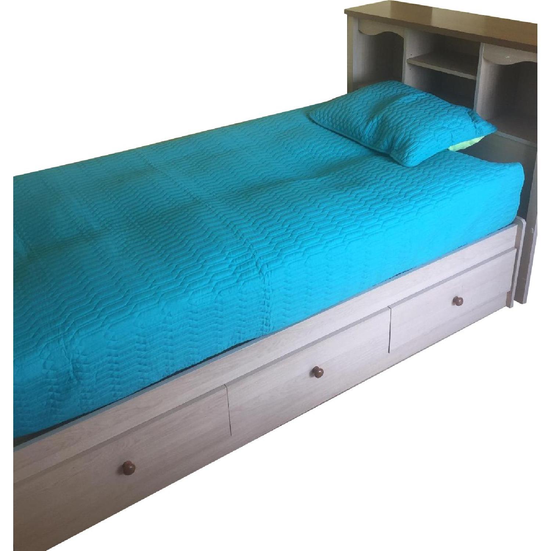 Twin Captain Bed w/ Headboard - image-0