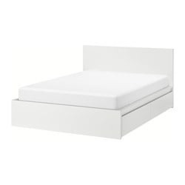Genial Ikea Malm White Full Size Bed W/ 2 Storage Drawers ...