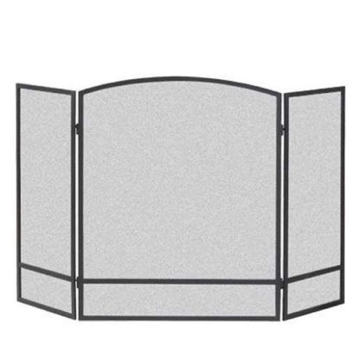3-Panel Steel Mesh Fireplace Screen - image-0