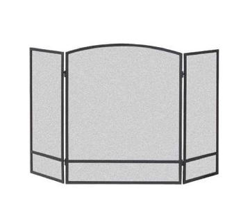 3-Panel Steel Mesh Fireplace Screen