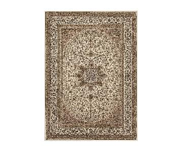 Traditional Oriental Cream Area Rug