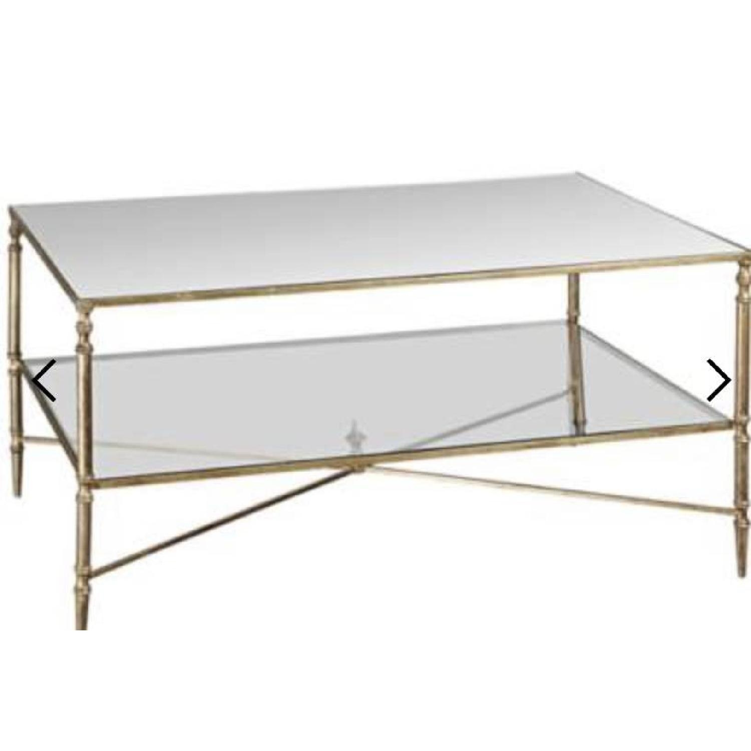 Uttermost Mirrored Glass Coffee Table