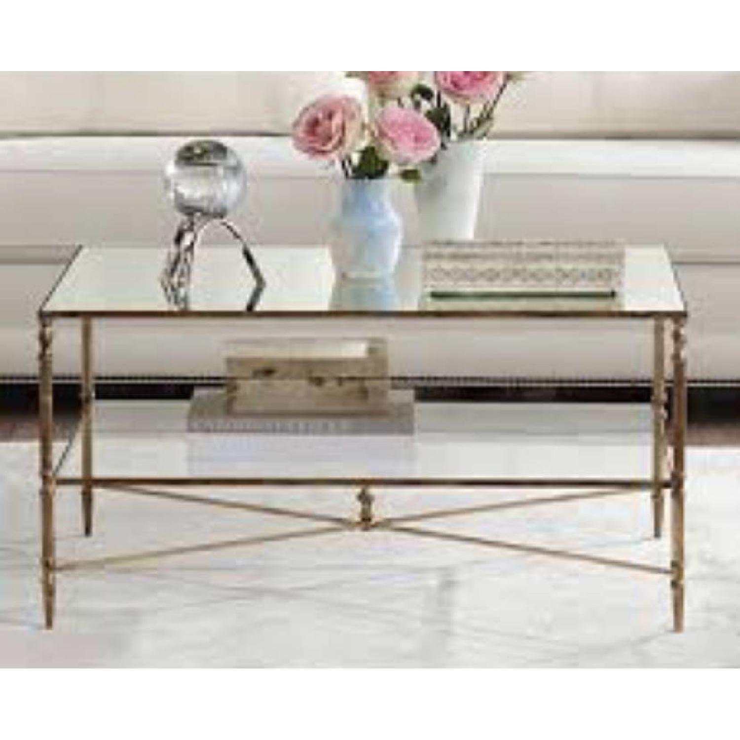 Uttermost Mirrored Glass Coffee Table - image-2