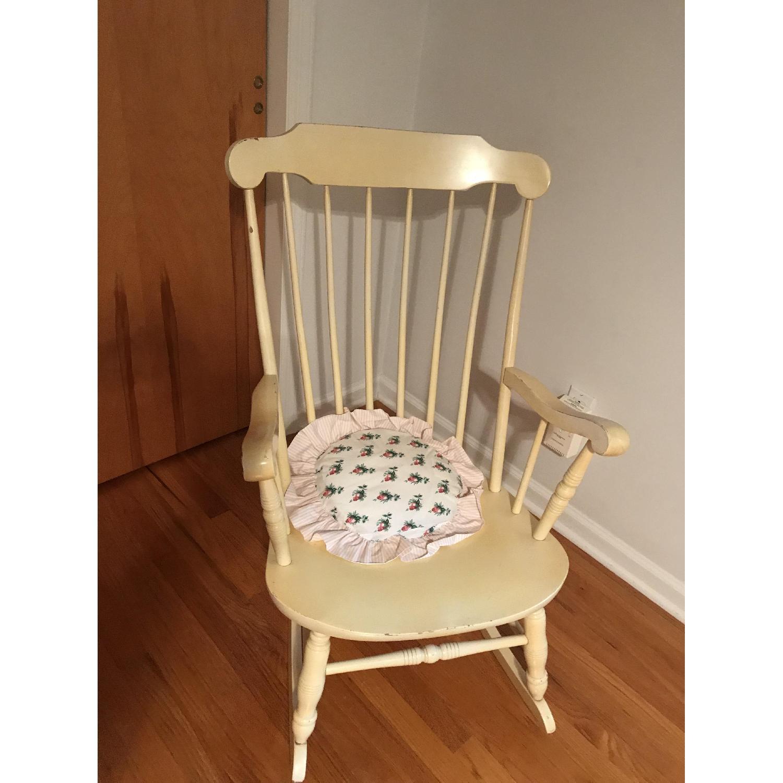 Vintage Wood Rocking Chair - image-1