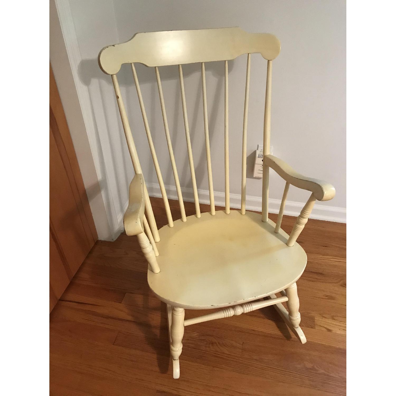 Vintage Wood Rocking Chair - image-5