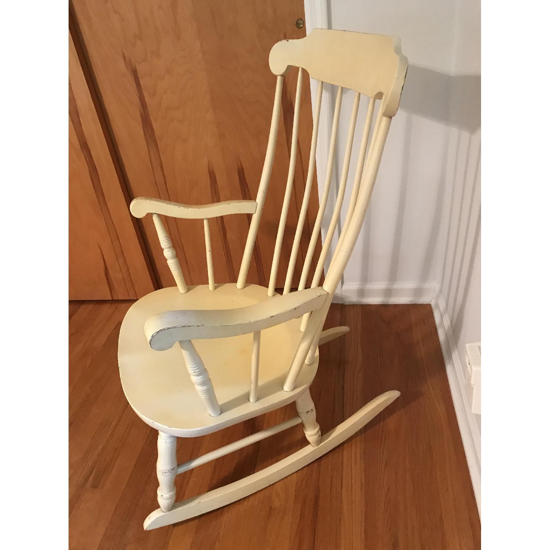 Vintage Wood Rocking Chair - image-6