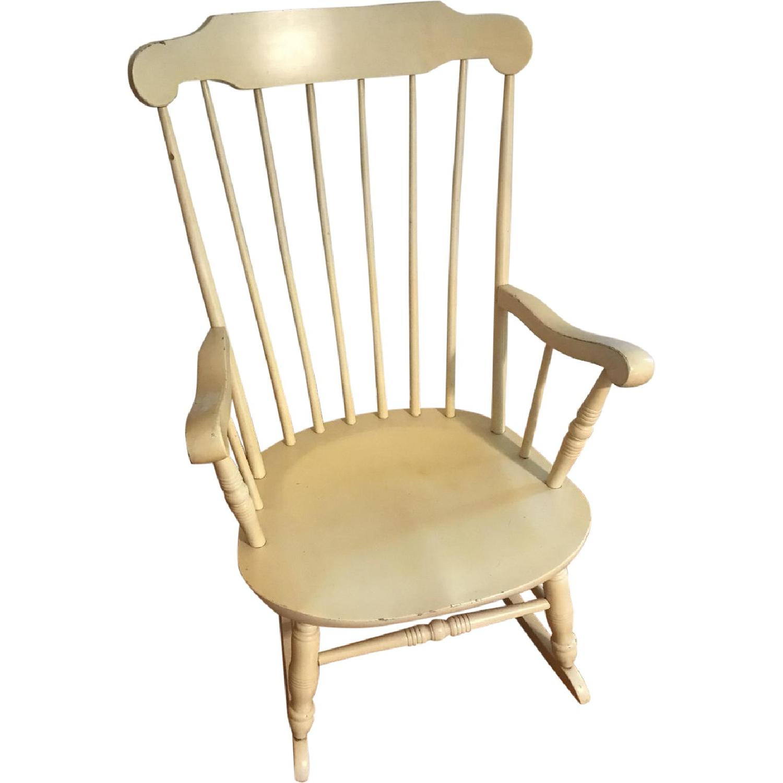 Vintage Wood Rocking Chair - image-0