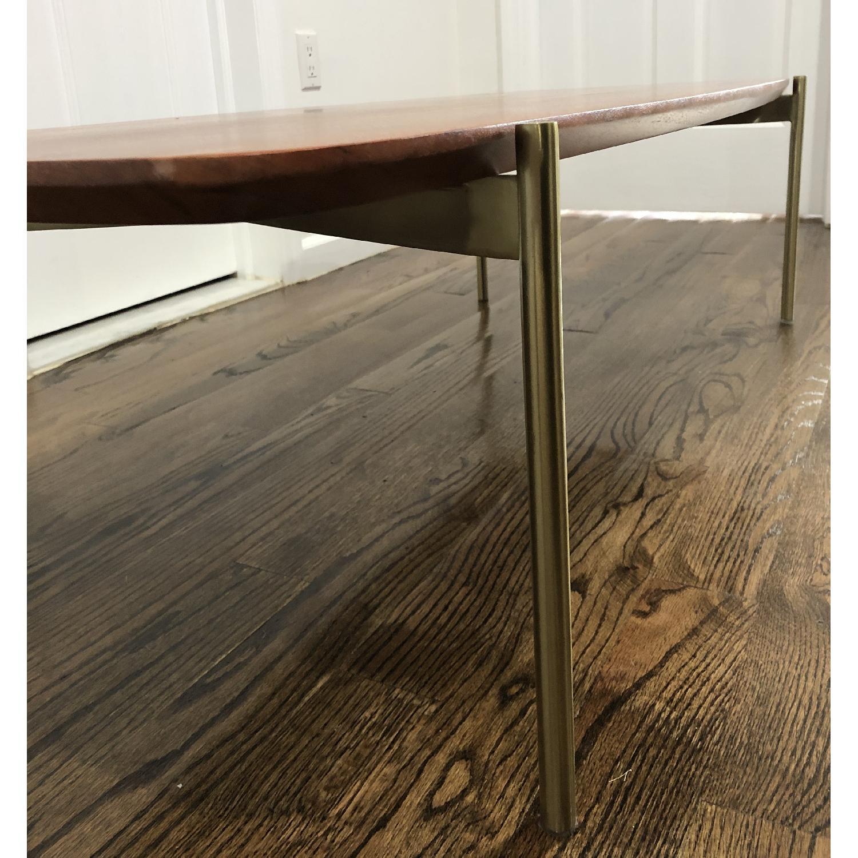 CB2 Wood & Brass Coffee Table - image-2
