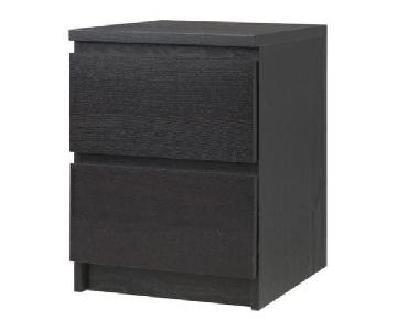 Ikea Malm 2 Drawer Nightstand