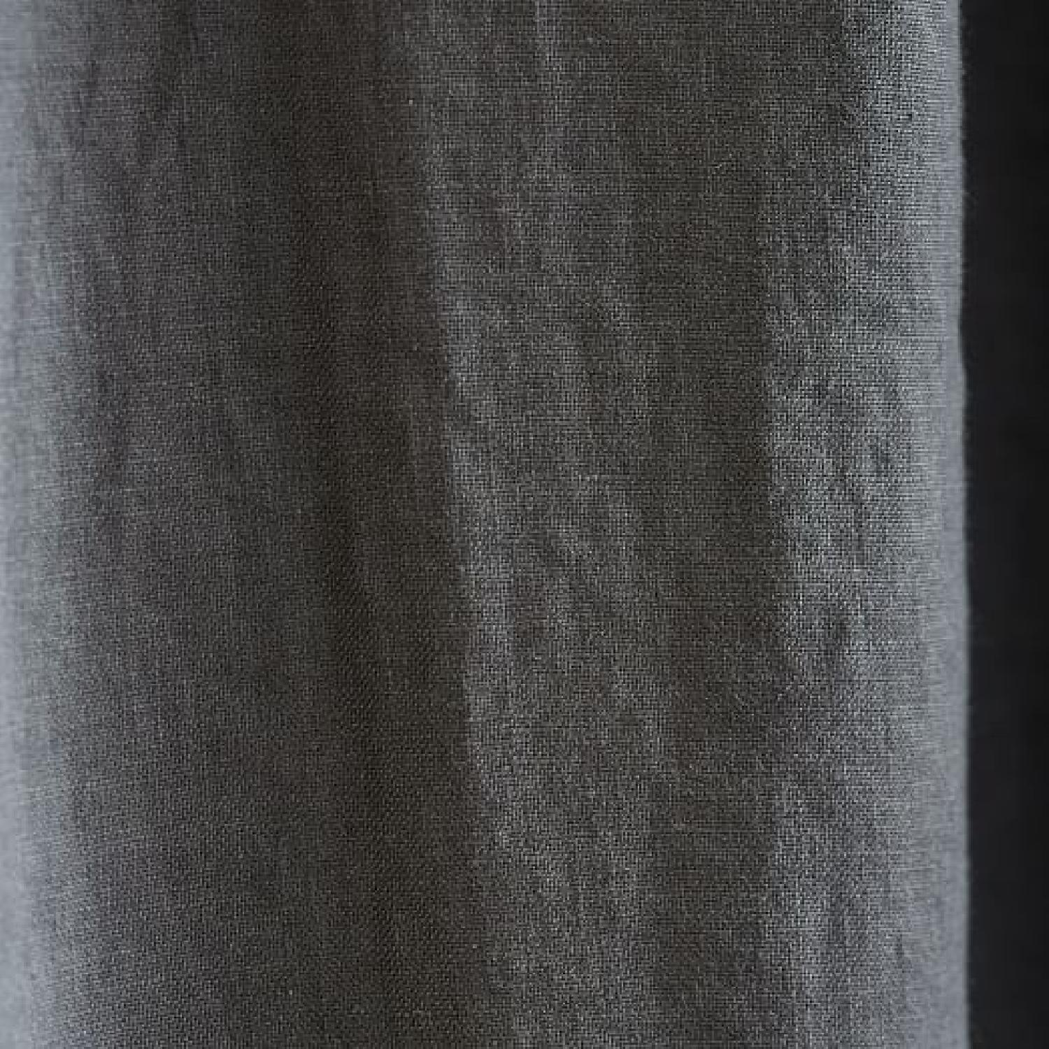 West Elm Belgian Linen Blackout Curtains w/ CB2 Curtain Rod-2