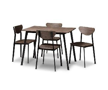 Union Rustic Tejeda Dining Table w/ 4 Chairs