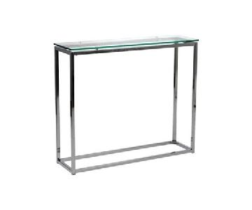 CB2 Smart Glass Console Table