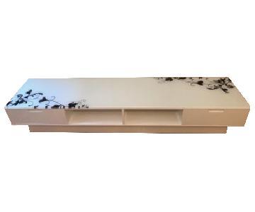 Modern Glass & Wood TV Stand