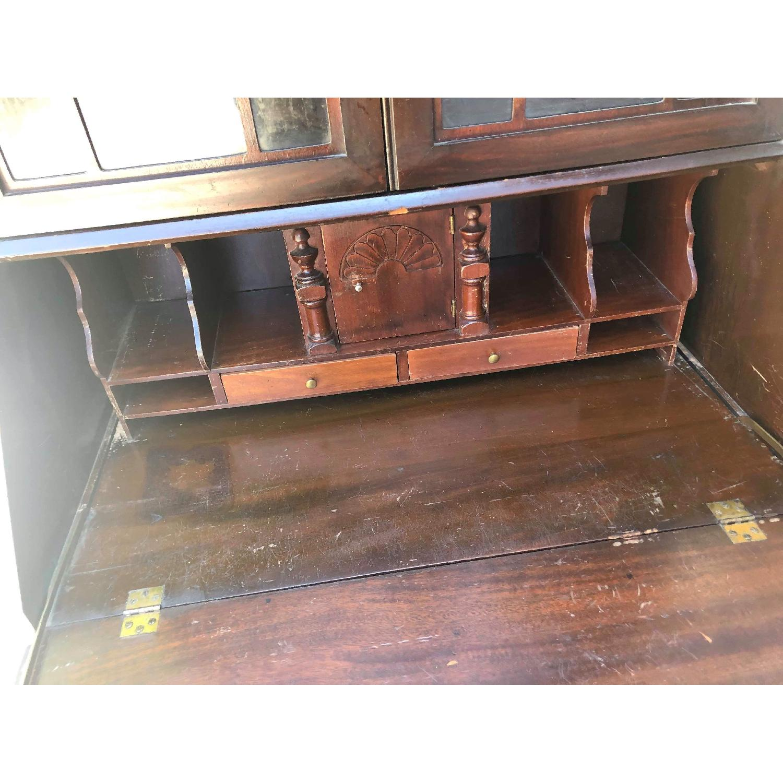 Antique 1930s Mahogany Secretary Cabinet/Desk-16