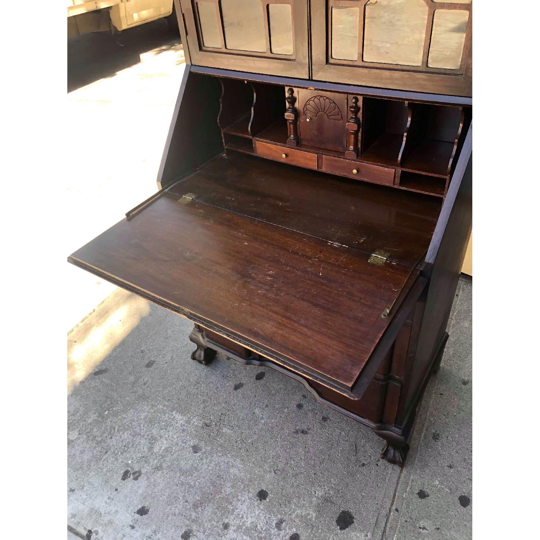 Antique 1930s Mahogany Secretary Cabinet/Desk-18