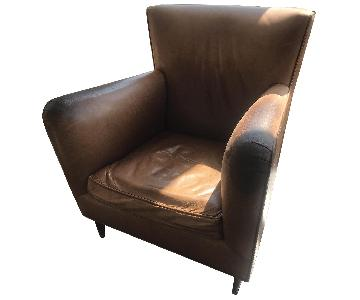 Handmade Italian Leather Lounge Chairs