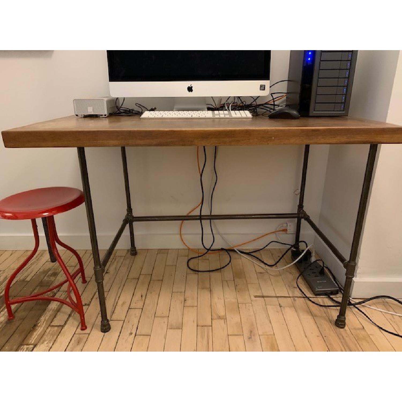 Custom Wood & Metal Table/Desk - image-2