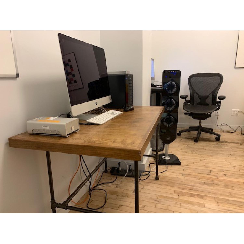 Custom Wood & Metal Table/Desk - image-3