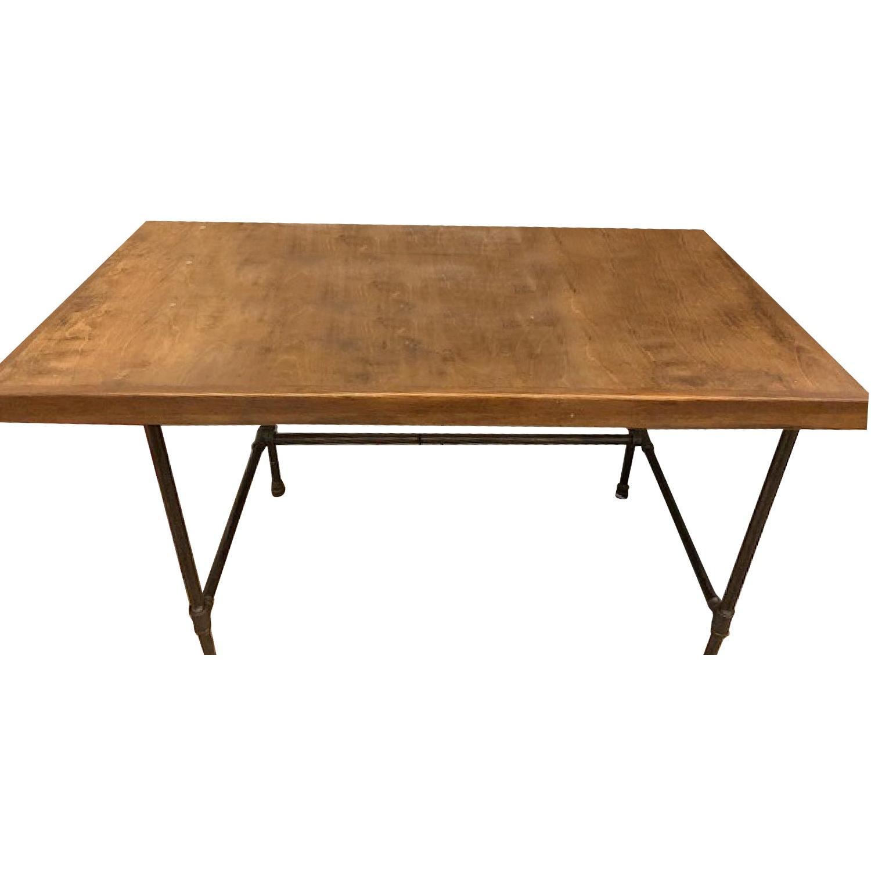 Custom Wood & Metal Table/Desk - image-0