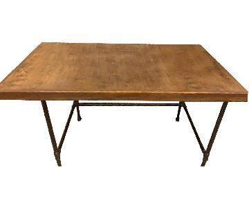 Custom Wood & Metal Table/Desk