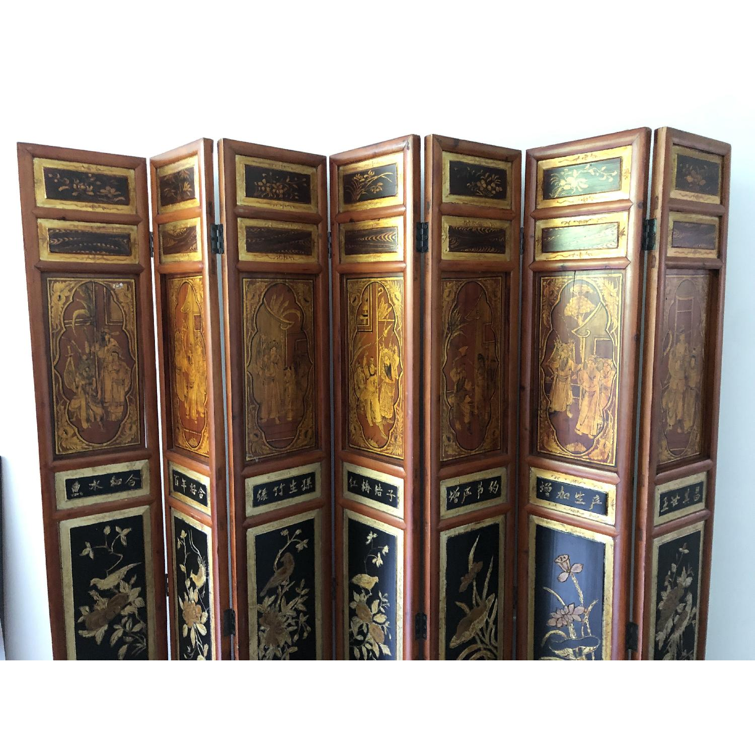 Antique Chinese Wooden Screen - image-2