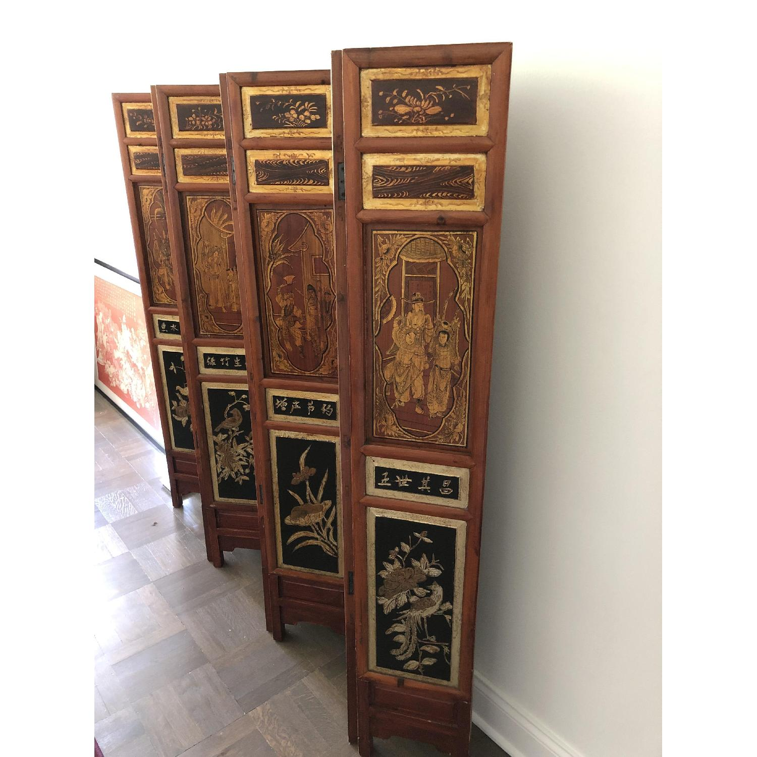 Antique Chinese Wooden Screen - image-3