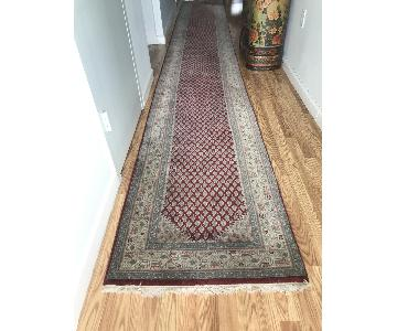 ABC Carpet and Home Hand Woven Oriental Indian Runner Rug