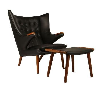 Hans Wegner Papa Bear Reproduction Chair & Ottoman