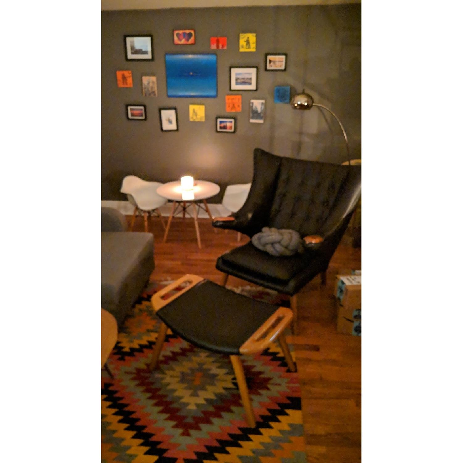 Hans Wegner Papa Bear Reproduction Chair & Ottoman - image-2
