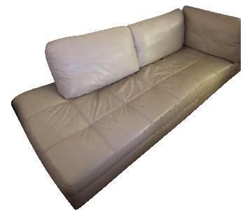 3-Piece Light Grey Sectional Sofa