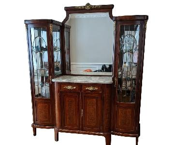 Antique Wall Unit/China Cabinet