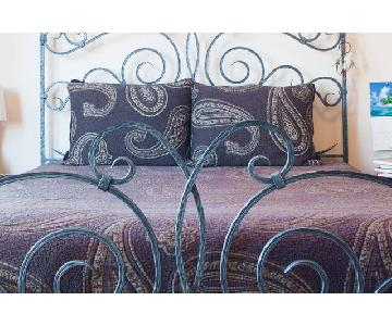 Claudio Rayes Solid Wrought Iron Queen Bed Frame