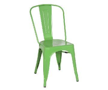 Classic Style Stackable Indoor/Outdoor Steel Chair In Green