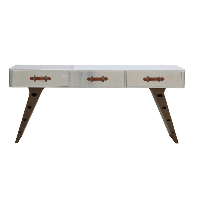 Mid-Century Aviator Style Classic Desk w/ Aluminum Sheeting