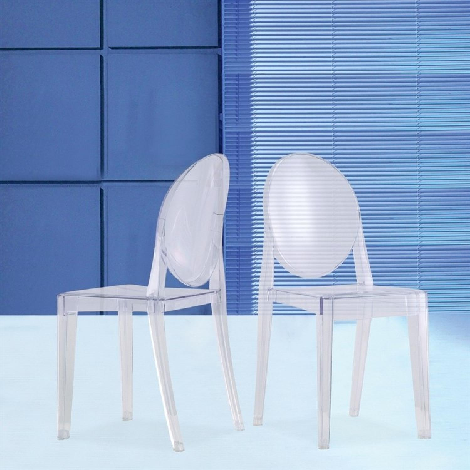 Modern Stackable Dining Chair In Scratch Amp Weather Aptdeco