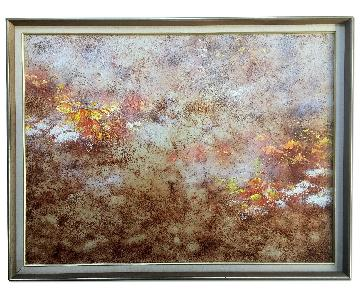 70's Mixed Media Abstract Painting