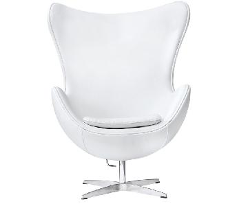 Mid Century Style Accent Chair in Fiberglass Frame & Premium