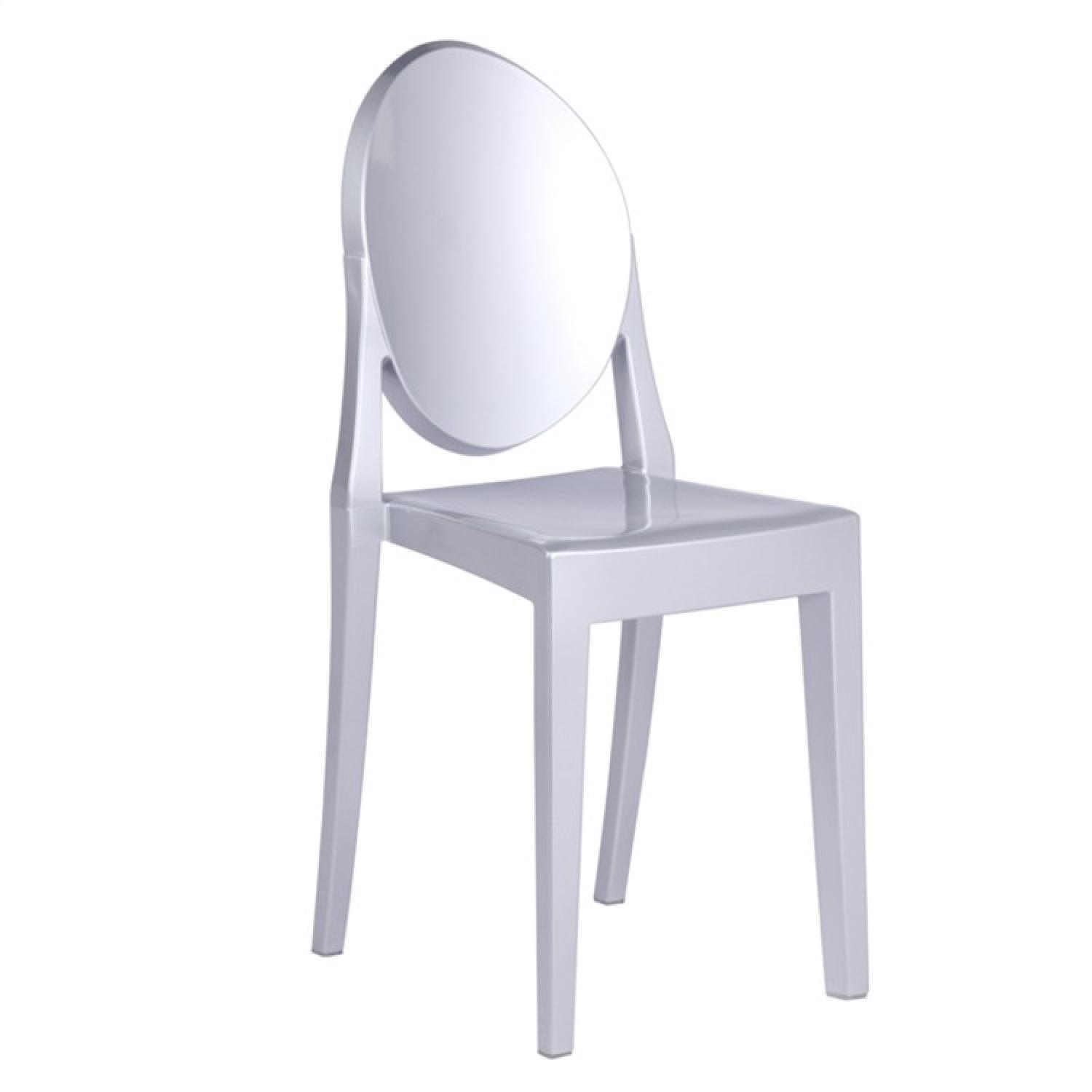 Modern Stackable Dining Chair in Scratch & Weather Resistant