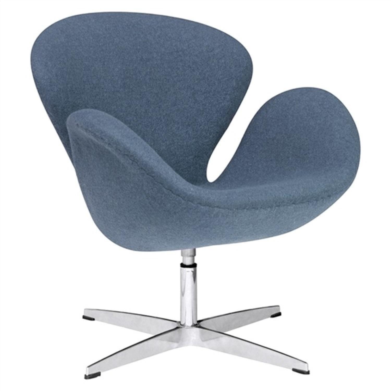 Mid Century Style Swivel Accent Chair in Premium Dark Grey W