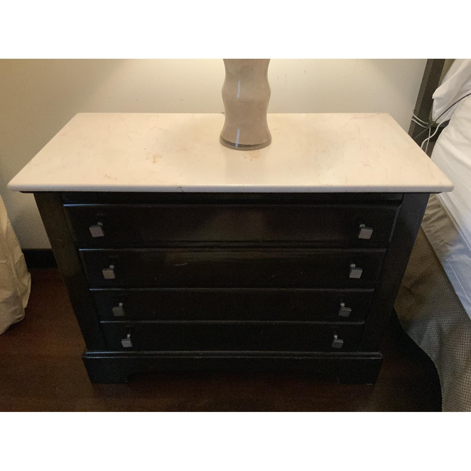 Bernhardt End Tables w/ Marble Tops - image-1