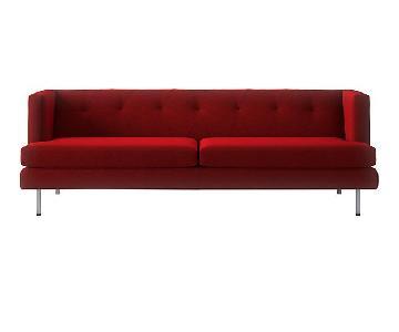 CB2 Red Avec Sofa