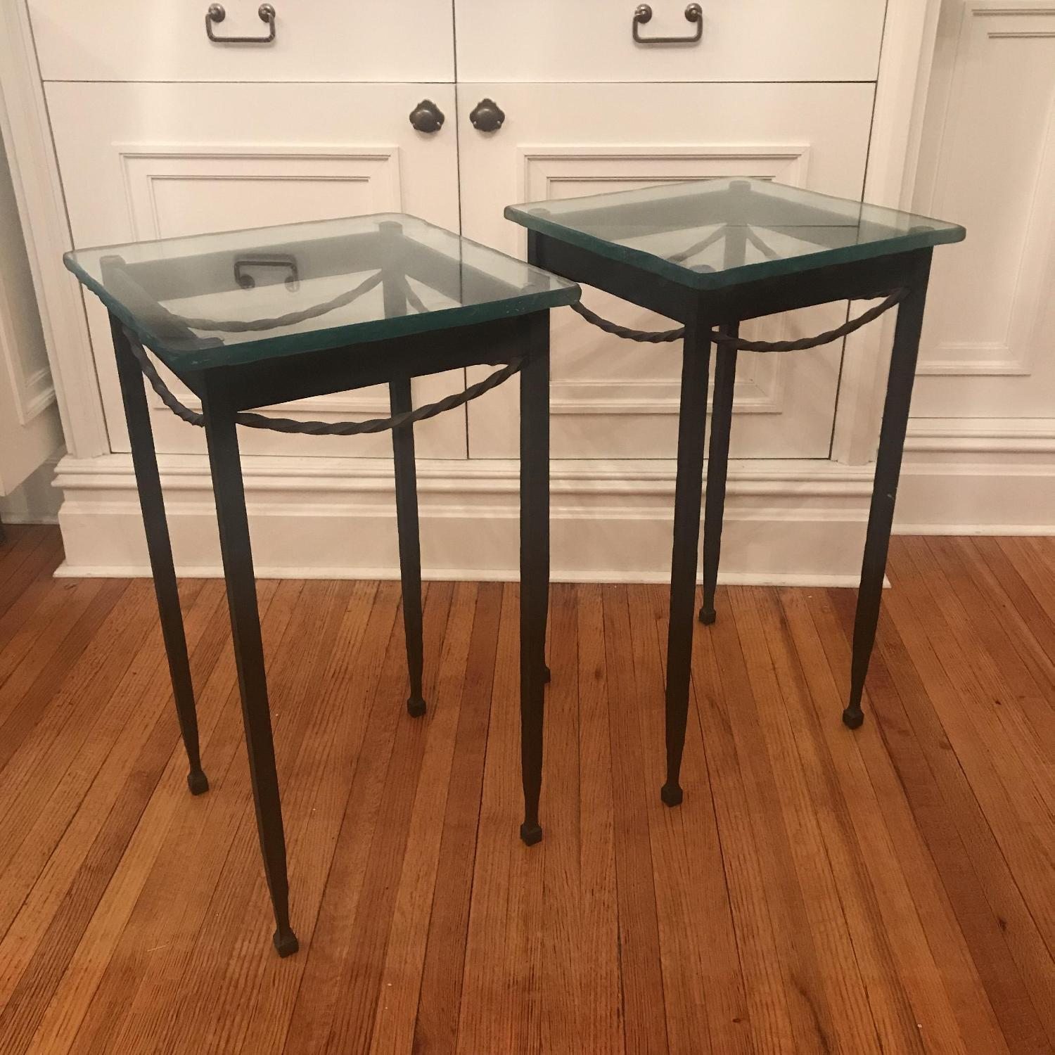 Rod Iron & Glass End/Accent Tables - image-1