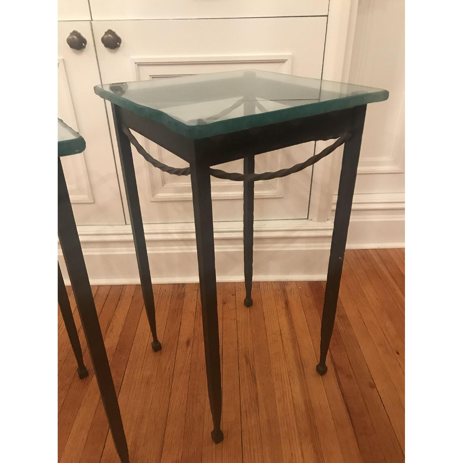 Rod Iron & Glass End/Accent Tables - image-2