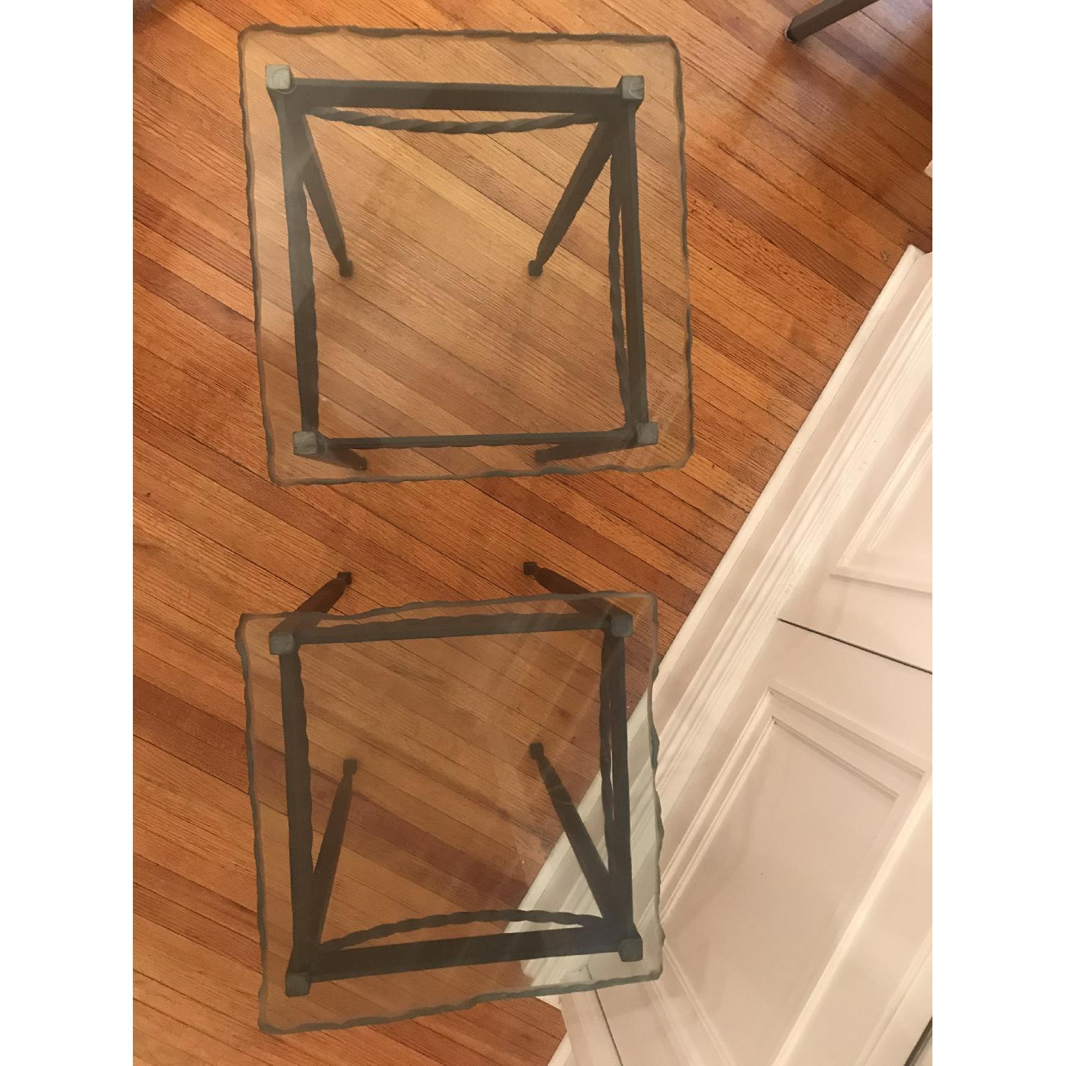 Rod Iron & Glass End/Accent Tables - image-3