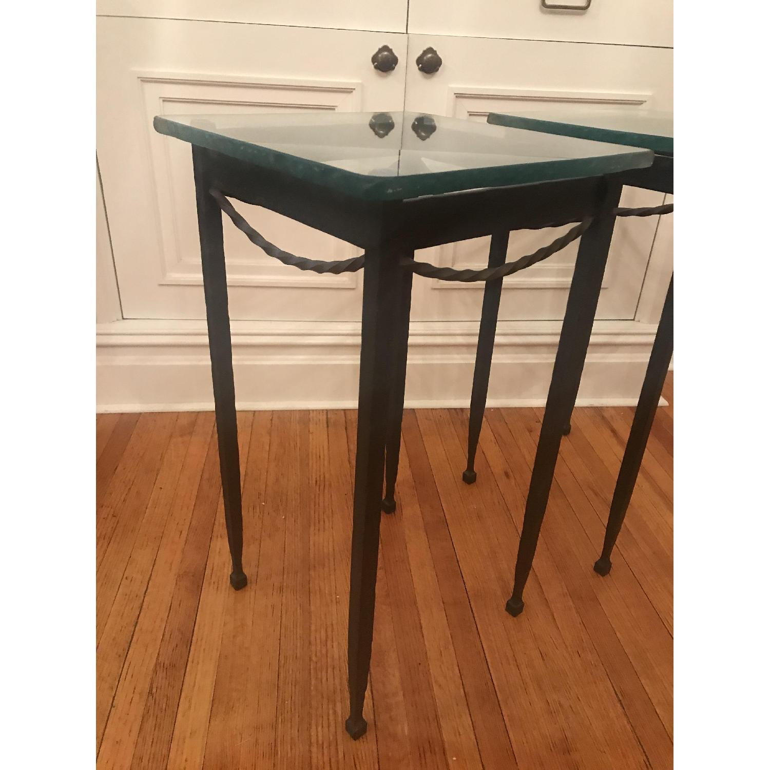 Rod Iron & Glass End/Accent Tables - image-4