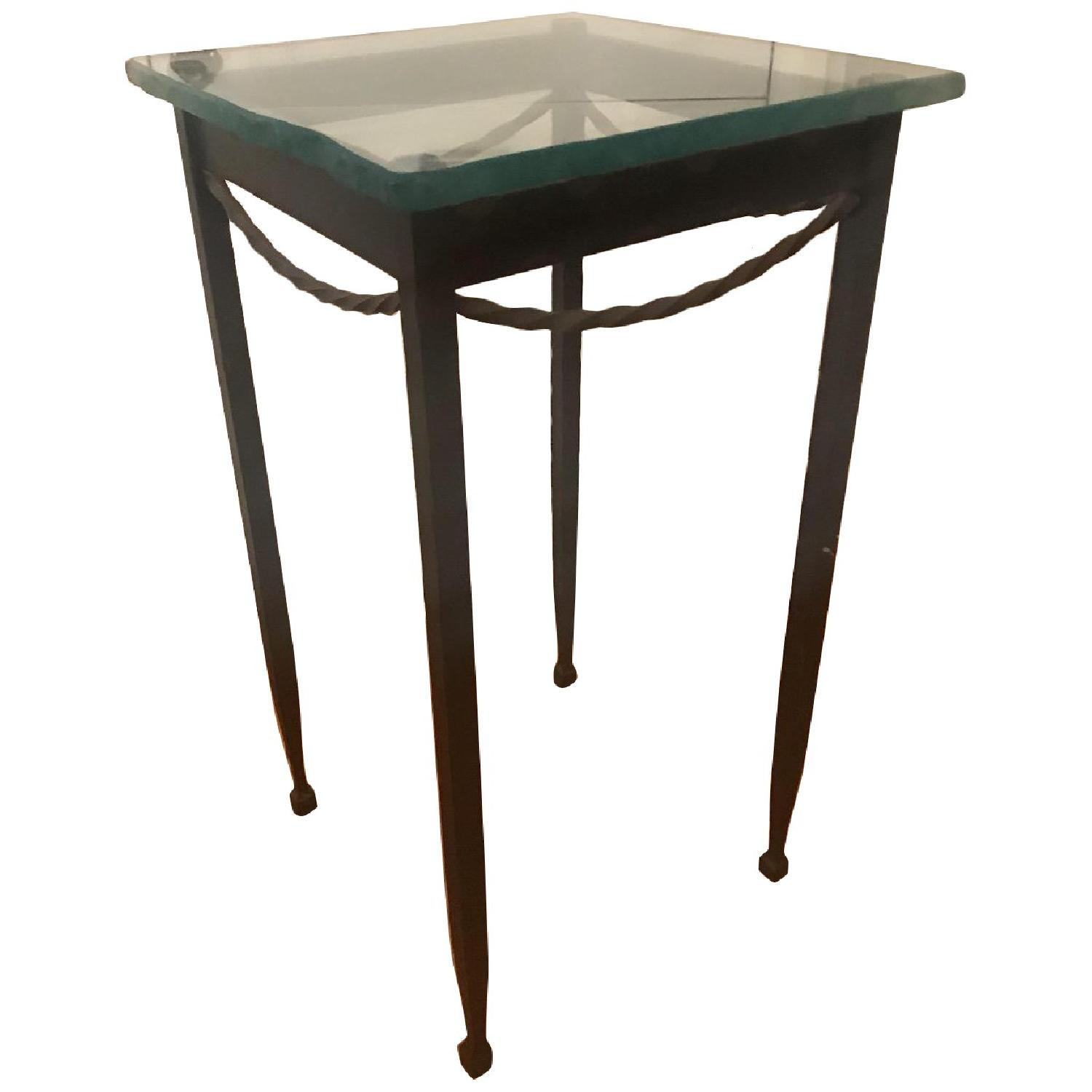 Rod Iron & Glass End/Accent Tables - image-0