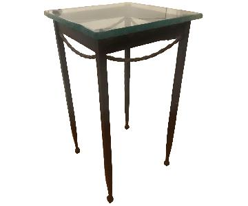 Rod Iron & Glass End/Accent Tables